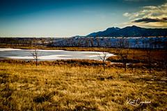 Winter Plains 1 (Kent Copeland) Tags: mountains clouds pond snow winter plains colorado boulder landscape nature water