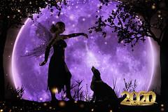 2020 Fairy (Andy Orozco ~) Tags: 2020 newyear newyears fairy dust dog composition moon fantasy