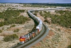 ATSF 570 West at Kayser, NM (thechief500) Tags: usa nm bnsf railroads kayser atsf clovissubdivision newmexico santaferailway