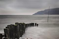 Tidal Flow (suerowlands2013) Tags: porlockweir westsomerset mist drizzle groyne le