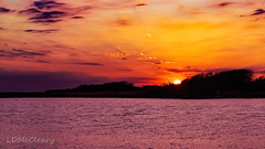 Sunset Across the Colorado River (Texas) (LDMcCleary) Tags: