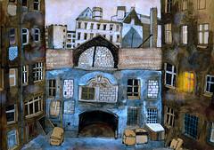 ostberlin 1982 (sandra rummler) Tags: berlin ostberlin stadt city lost erinnerung ddr winter kalt mixed painting sketch book sketchbook skizze zeichnung illustration damals