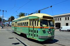 Muni F Line #1058 (Jim Strain) Tags: jmstrain railroad railway trolley tram streetcar muni pcc transit sanfrancisco california