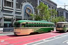 Muni F Line #1040 (Jim Strain) Tags: jmstrain railroad railway trolley tram streetcar muni pcc transit sanfrancisco california