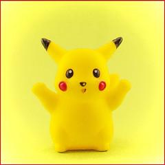 Pika! (jolynne_martinez) Tags: pikachu pokemongo pokemon jubilance flickrfriday photoshop adobephotoshop yellow red black comicbookart comicbook halftone joyful jubilant nikkor nikon nikond60