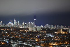 The skyline at night (hogtown_blues) Tags: toronto ontario canada torontoskyline night nightphoto nightshots wallaceemerson wallaceemersonneighbourhood balonyview longexposure