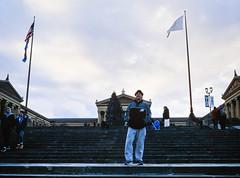 Yo Philly - Happy New Year (Dalliance with Light (Andy Farmer)) Tags: ektachromee100 rockysteps unicolorrapide6kit artmuseum philly rocky film street leicam6 slidefilm philadelphia 35mm pennsylvania unitedstatesofamerica elmaritm28mmf28