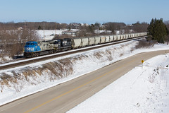 U75191 (THE Woodtick) Tags: ac44c6m canadiannational norfolksouthern wisconsin fracsand sand cnexwc sonicbonnet exwisconsincentral exsooline rail railroad train transportation rebuild generalelectric ge actodc freight ackerville