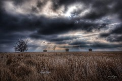 Frosted Plains (CTfotomagik) Tags: plains pawneenationalgrassland northerncolorado noco nikon tamron wideangle abandoned sky clouds storm rays light field landscape winter frost ctfotomagik christopherthomas agriculture weldcounty