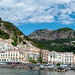 Panorama  of the town of Amalfi