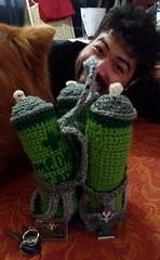 Resident Evil 3 Inspired First Aid Spray Kit (HawkSick_Brutal_Prizes) Tags: videogames handmade crochet resident evil capcom residentevil