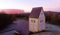 """Munich - """"Versunkenes Dorf"""" (cnmark) Tags: germany deutschland bayern bavaria munich münchen fröttmaning müllberg landfill art installation church heiligkreuzkirche ©allrightsreserved"""