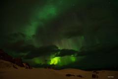 Borealis in Uttakleiv (Aerisabel) Tags: uttakleiv borealis aurora reine cod lofoten landscape mountain snow fiordo norway travel winter