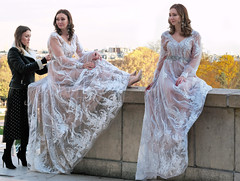Eastern European model in a wedding dress (pivapao's citylife flavors) Tags: paris france trocadero girl stitched fashion beauties