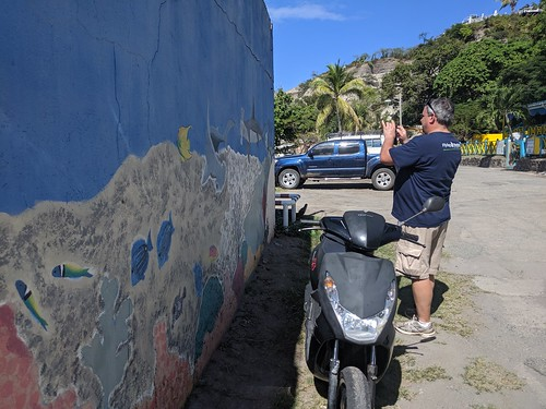 Seabed Mural down by the Harbour, Statia, Nov 2019