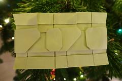 2020 (Michał Kosmulski) Tags: origami tessellation paperfolding papercraft 2020 mmxx newyear newyearseve nye michałkosmulski satogamisatogamipaper green