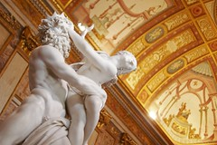 Pluto and Proserpina (Eziah photography) Tags: pluto proserpina italy roma borghese villa statue statues bernini art light gold depth travel europe sculpture