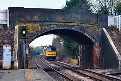 New Years Day Bio (whosoever2) Tags: uk united kingdom gb great britain england nikon d7100 train railway railroad january 2020 gbrf colas class60 tug 60056 6e10 liverpool drax biomass plumley cheshire arch bridge signal