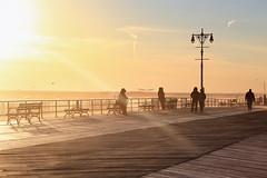 Coney Island Beach (erichudson78) Tags: usa nyc newyorkcity brooklyn coneyisland beach plage seascape seaside borddemer canonef24105mmf4lisusm canoneos6d silhouettes boardwalk outside