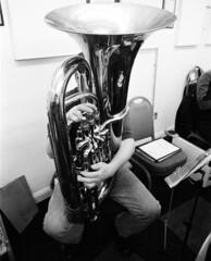 29 Knottingley Silver Band A (I ♥ Minox) Tags: film 2019 knottingley knottingleysilverband brassband windband music musician musicians rehearsal yorkshire westyorkshire olympus om1 om1n olympusom1 olympusom1n ilford hp5 ilfordhp5plus hp51600 1600asa