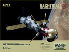 """OKZ Nachtigall"" orbital comms relay (Onkel Ton) Tags: starfighter lego moc scifi altbuild mak maktober space satellite microspace microspacetopia"