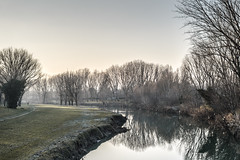 Winter River Reflections (Robycrux) Tags: massive breathtaking around photo creativity creative inspiration glow travel public colori powerful holiday relax river santerno imola silent quite winter reflections cold mood peace sunset italy