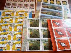 Briefmarken (ganz frisch) (LaWendeltreppe) Tags: post stamps briefmarken