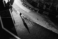 DSC04662B Morning light (soyokazeojisan) Tags: japan osaka city street sunlight morning people walk winter bw blackandwhite monochrome digital sony rx100ⅵ shadow 2019