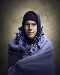 Luke (mckenziemedia) Tags: man portrait portraiture face smile blanket stockingcap hood people humanity chicago city urban street streetphotography homeless homelessness