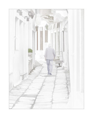 2836hCETSb The Long Walk Home (foxxyg2) Tags: hk highkey art walking apieranthos marble marblevillage naxos cyclades greece greekislands islandhopping islandlife topaz topazsoftware topazstudio niksoftware dxo dfine2 colorefexpro4 hdrefexpro