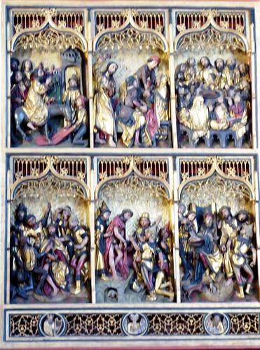 Hannover (Alemania). Marktkirche. Altar. Detalle