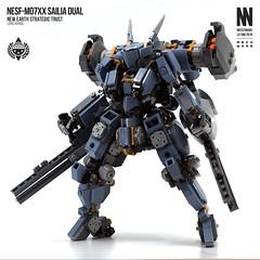 NESF-M07XX Sailia Dual (Messymaru) Tags: lego moc mech mecha robot レゴ レゴロボ メカ mechwars reframe original messymaru