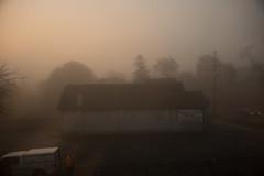 (Džesika Devic) Tags: foggy fog mist morning church street photography dawn leica mtyp240 m240