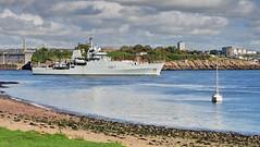 HMS Echo, on her way out to sea (Baz Richardson) Tags: devon plymouth hmsecho royalnavy warships h87 navalsurveyships