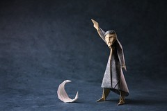The Astronomy Lesson (pierreyvesgallard) Tags: origami wise man astronomer astronomy moon paper papercraft david brill