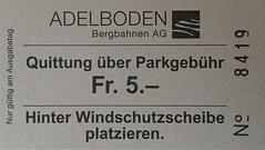 "Parkticket Adelboden • <a style=""font-size:0.8em;"" href=""http://www.flickr.com/photos/79906204@N00/49315712721/"" target=""_blank"">View on Flickr</a>"