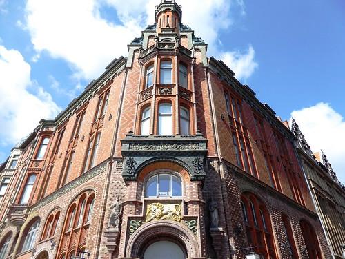 Hannover (Alemania). Edificio en calle Karmarstrasse 44