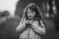 Petite flamme... (Un instant.) Tags: children bnw france look love hair pretty enfant portrait monochromebokehthursday