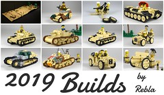 Builds of 2019 (Rebla) Tags: lego rebla ww2 wwii world war 2 ii models tanks 2019 vehicles moc africa north