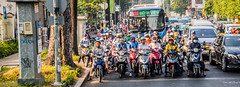 2019 - Vietnam, Saigon - Avalon Waterways Tour - 1 - Bus Ride to Cu Chi Tunnels (Ted's photos - Returns Early February) Tags: avalonwaterways cropped hochiminhcity nikon nikond750 nikonfx saigon tedmcgrath tedsphotos vietnam wideangle widescreen streetscene street motorcycles bus hcmcbus peopleandpaths pathsandpeople hcmc