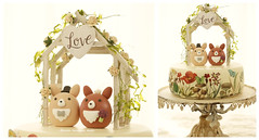 Love Pembroke Welsh Corgis MochiEgg with  the handmade wooden outdoor chapel miniature wedding cake topper and custom dogs wedding cake decoration ideas (charles fukuyama) Tags: weddingplanning puppy bigday rose weddingdetails weddinginspiration weddingthings weddinggift couplecaketopper handmade unique ceremony claydoll initials sculpted marriage justmarried kikuikestudio hochzeit boda 結婚式 nozze mariage dollhouse homedecor outdoorwedding rusticwedding oets characterscaketopper