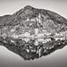 0604 Morcote, Lake Lugano (bw)