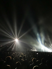 Let there be light (marktmcn) Tags: bright light shadows crowd people performance gig concert stage massive attack o2 london 2019