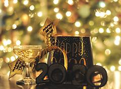 Wishing all of my flickr friends a happy, healthy and magical 2020! (nushuz) Tags: 2020 magical happyandhealthynewyear happynewyear champagne hatsandfavors anewdecade newbeginnings forallmyflickrfriends dof christmastreebokeh magicalgoldenlight myfirstphotoof2020