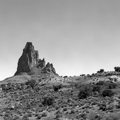 Church Rock (Scott Holcomb) Tags: monumentvalley navajonation kayenta arizona hasselblad500c carlzeisssonnar14f150mmlens zenzabronica67mmso56•2cya3filter adoxchs25artfilm 120film 6x6 mediumformat epsonperfectionv600 photoshopdigitalization