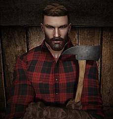 Lumberjack (Silentraindrops.com) Tags: gaeg magnificent adclothing taox midnytecreations secondlife sl virtualworld avatar lumberjack