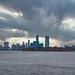 Ellis Island, view from Liberty Island - New York