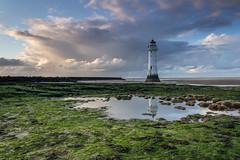 New Brighton (Philip Brookes) Tags: newbrighton wirral merseyside lighthouse shore coast seaside water reflection rock cloud