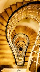 """""""House of the Black Madonna"""" (JuliSonne) Tags: staircase stairs lightbulb lamp railing architecture historic cubism prague czechrepublic houseoftheblackmadonna culture documentation treppenhaus treppe architektur cubismus prag tschechien hausderschwarzenmadonna kultur dokumentation glühlampe geländer stairwell"""