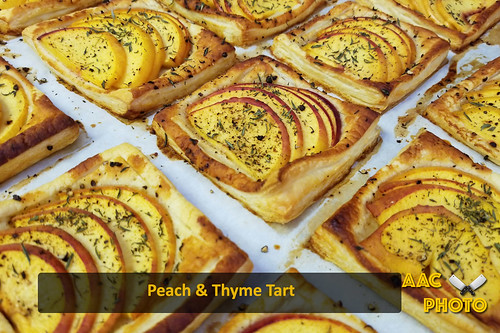 "Peach and thyme tarts • <a style=""font-size:0.8em;"" href=""http://www.flickr.com/photos/159796538@N03/49317934733/"" target=""_blank"">View on Flickr</a>"